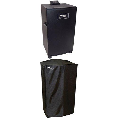 Masterbuilt-20070910-30-Inch-Black-Electric-Digital-Smoker-Top-Controller-and-Cover-Bundle