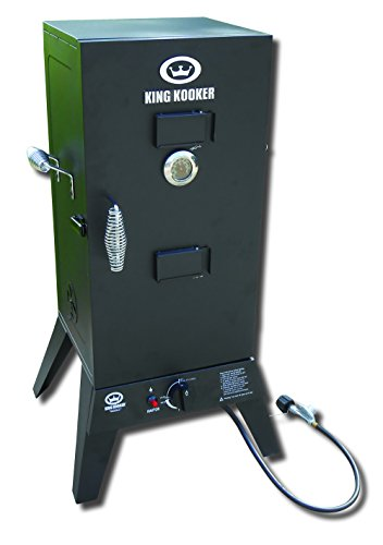 King-Kooker-81795211307-Low-Pressure-Smoker-30-Inch-Smoking-Cabinet-16000-BTU-steel-Burner