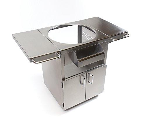 Kamado-Joe-KJ-SST-Classic-Joe-Stainless-Steel-Table