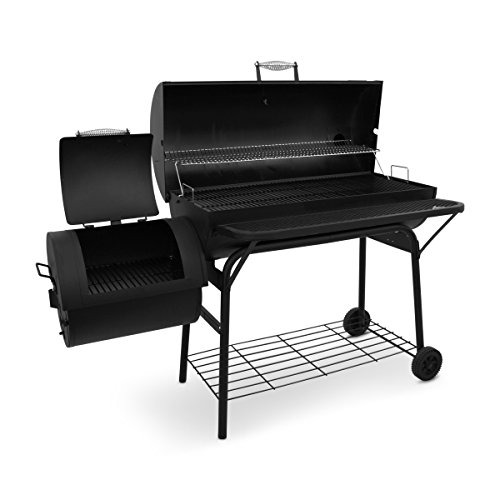 Pro Bbq Smoker Grill Fire Box With Extra Large Cooking