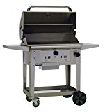 Bull-Outdoor-Products-67531-Bison-Charcoal-Stainless-Steel-Grill-with-Cart