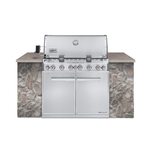 Weber-7360001-Summit-S-660-Built-In-Liquid-Propane-Gas-Grill-Stainless-Steel