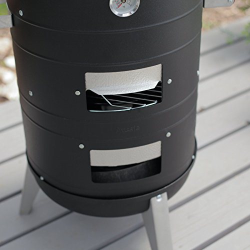 Meco Deluxe 2 In 1 Charcoal Water Smoker Grill Barbecue