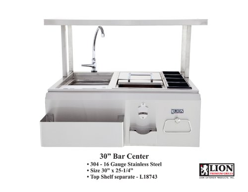 Lion-Premium-Grills-19836-Bar-Center-30-x-25-14-TOP-SHELF-SOLD-SEPARATELY