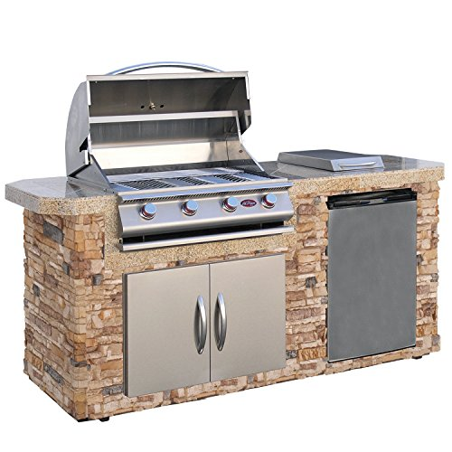Cal-Flame-LBK-701-A-Stucco-Grill-Island-With-4-Burner-Stainless-Steel-Gas-Grill