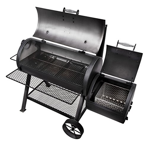 oklahoma joe s longhorn reverse flow smoker barbecue smokers and grills indoor stoves and. Black Bedroom Furniture Sets. Home Design Ideas