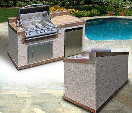 Kitchen Island Refrigerator: Cal Flame E6004 Outdoor Kitchen 4-Burner Barbecue Grill