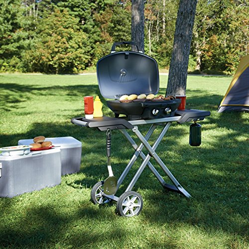 Napoleon-TravelQ-285-Portable-Propane-Grill-with-Scissor-Cart