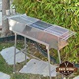 Party-Griller-32-Stainless-Steel-Charcoal-Grill--Portable-BBQ-Grill-Yakitori-Grill-Kebab-Grill-Satay-Grill-Makes-Juicy-Shish-Kebab-Shashlik-Spiedini-on-the-Skewer