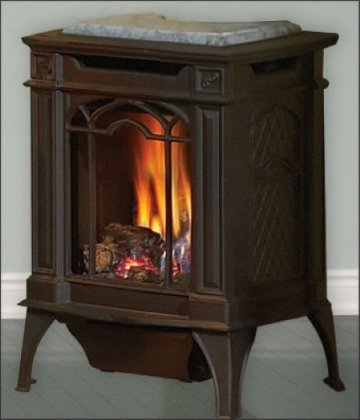 Napoleon-GVFS20N-Fireplace-Arlington-Natural-Gas-Stove-Vent-Free-18000-BTU-Painted-Black-Stove-Top-NOT-INCLUDED
