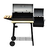Outsunny-Backyard-Charcoal-BBQ-Grill-and-Smoker-Combo-w-Wheels