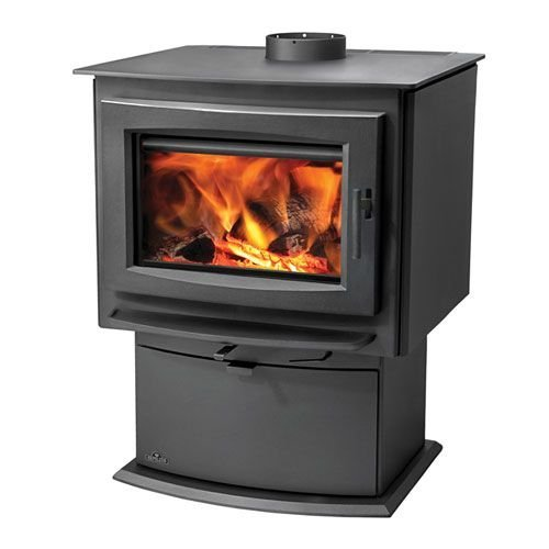 Napoleon-Small-Wood-Burning-Pedestal-Stove-Metallic-Charcoal