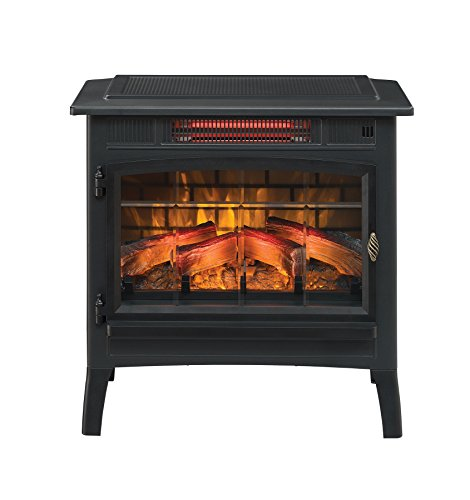 Duraflame-DFI-5010-01-Infrared-Quartz-Fireplace-Stove-with-3D-Flame-Effect-Black
