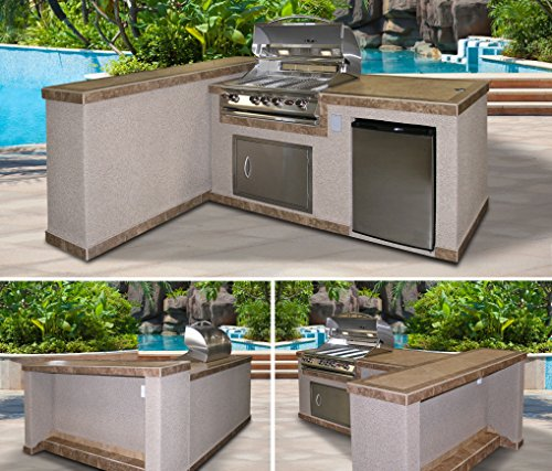 Cal Flame E3022 3 Piece Island With 32 Natural Gas Bbq