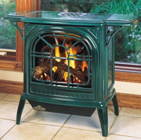 Napoleon-GVFS60-1N-Vent-Free-Cast-Iron-Gas-Stove-Painted-Metallic-Black-finish-Natural