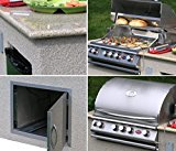 Cal-Flame-e6016-Outdoor-Kitchen-4-Burner-Barbecue-Grill-Island-With-Refrigerator