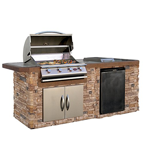 Cal-Flame-LBK-710-A-Stucco-Grill-Island-With-Tile-Top-And-4-Burner-Stainless-Steel-Gas-Grill