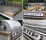 Cal-Flame-e6004-Outdoor-Kitchen-4-Burner-Barbecue-Grill-Island-with-Refrigerator