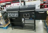 NEW-PRO-SERIES-SMOKE-HOLLOW-4-IN1-COMBO-GASCHARCOAL-3BURNER-GRILLMODELPS9900