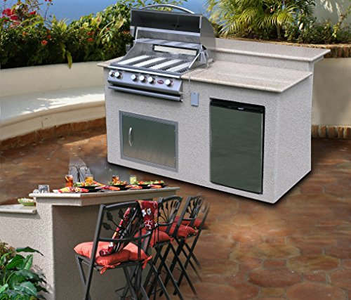 Cal Flame E6016 Outdoor Kitchen 4 Burner Barbecue Grill