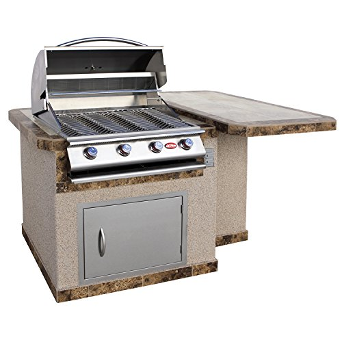 Cal-Flame-LBK-401R-A-Stucco-Grill-Island-with-4-Burner-Stainless-Steel-Propane-Gas-Grill